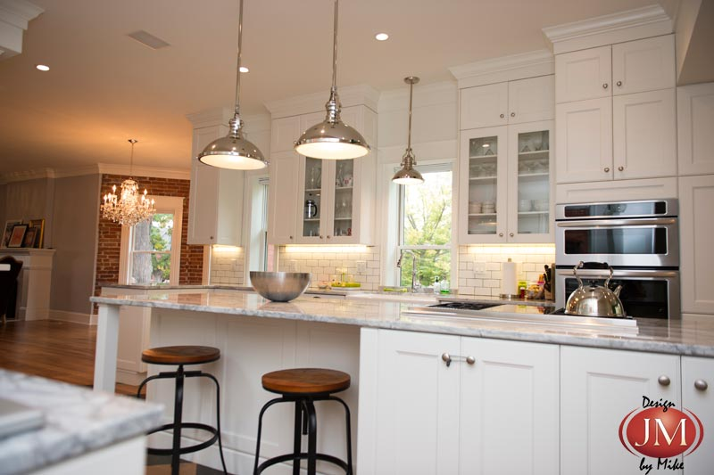 Victorian home kitchen remodeled to modern chic design for Modern victorian kitchen design