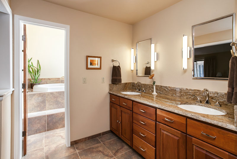 Amazing Master Bath Renovation in Denver with huge double shower