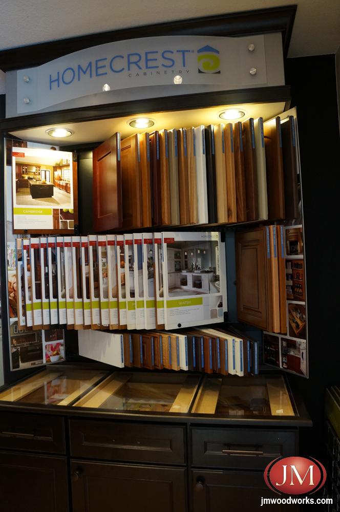 Homecrest cabinet door samples at the Castle Rock CO Showroom.