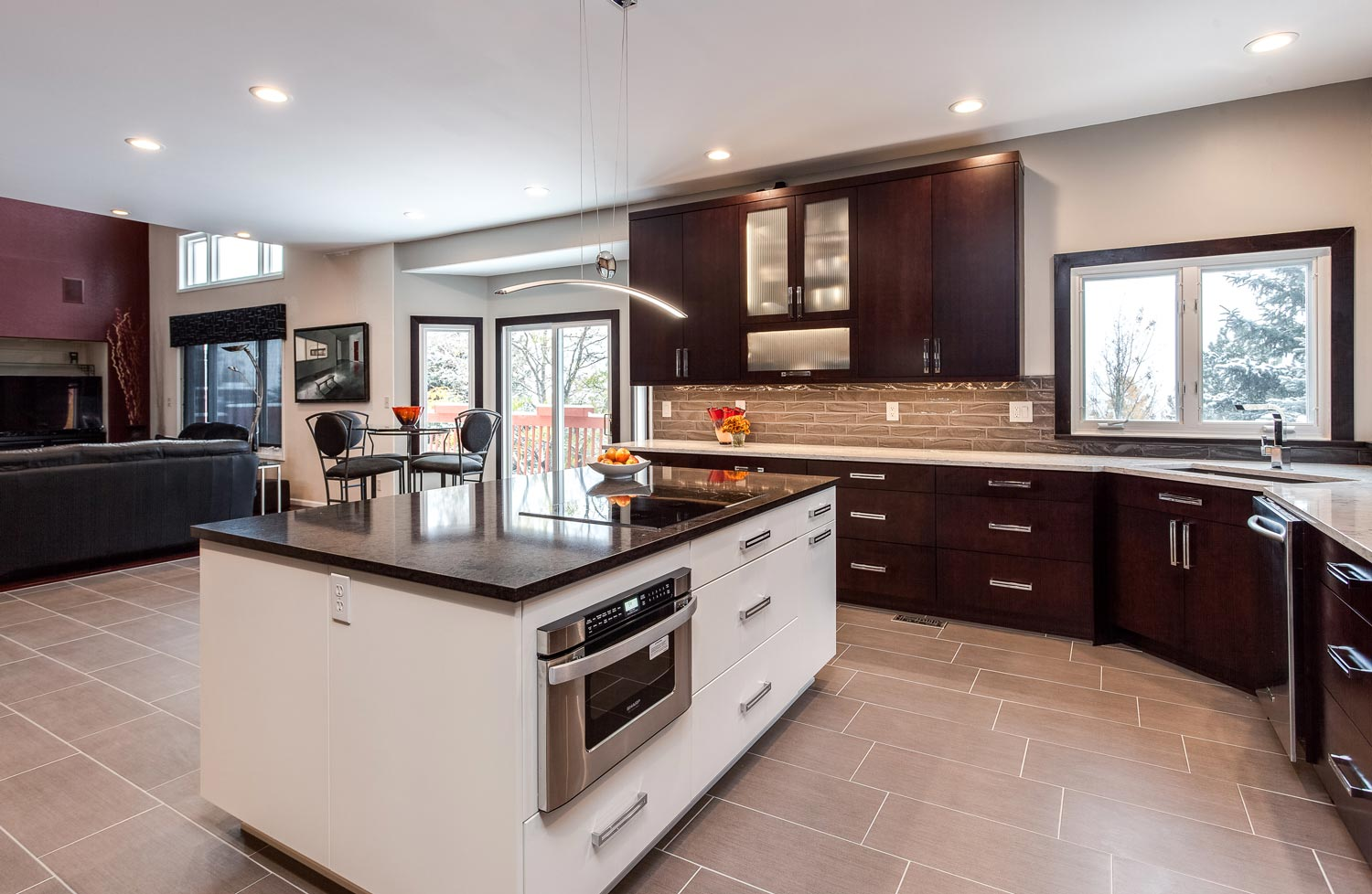 ordinary Kitchen Remodeling Lakewood Co #3: Flat Panel Full Access Cabinets throughout this spectacular renovated  kitchen in Lakewood Colorado give the homeowners more cupboard space than  they know ...