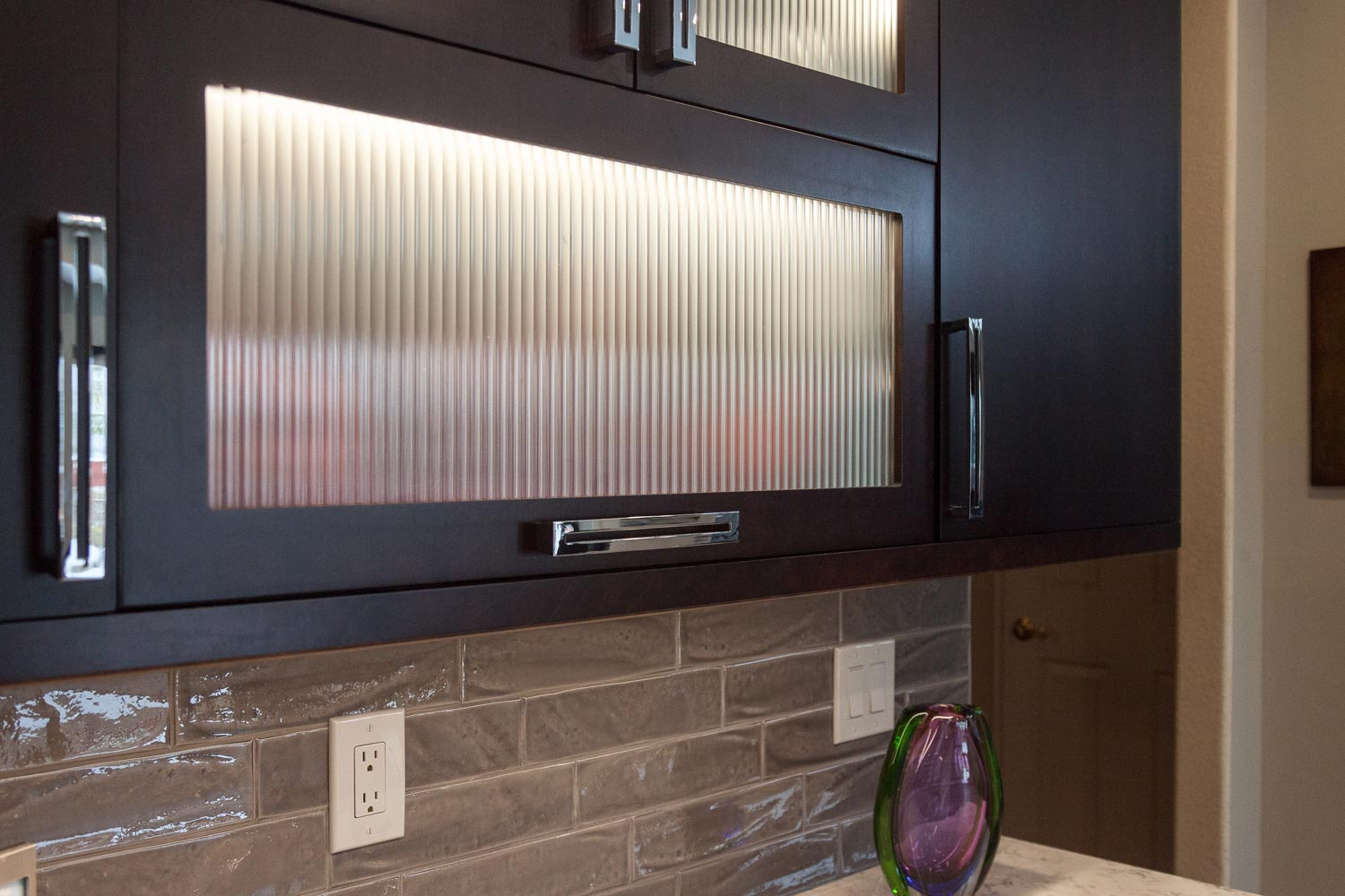Unique modern cabinetry in this lakewood co renovation kitchen project by Mike