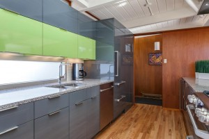 Contemporary Lime Green Kitchen Remodel in Denver