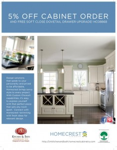 5 percent off homecrest cabinets Denver CO