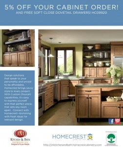 Amazing Discount on Homecrest Cabinets