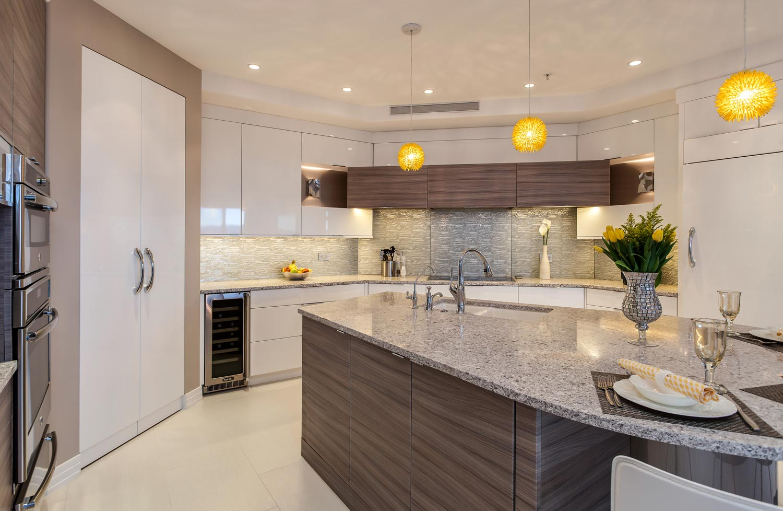 Kitchen glass cabinets pictures - Sleek Contemporary Kitchen Renovation Denver Colorado