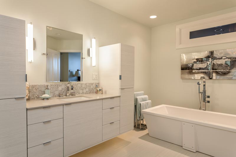 Renovated Contemporary Master Bathroom Denver CO