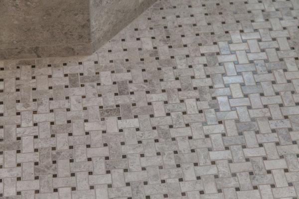 Ceramic Tile Flooring in this Greenwood Village masterbath remodel