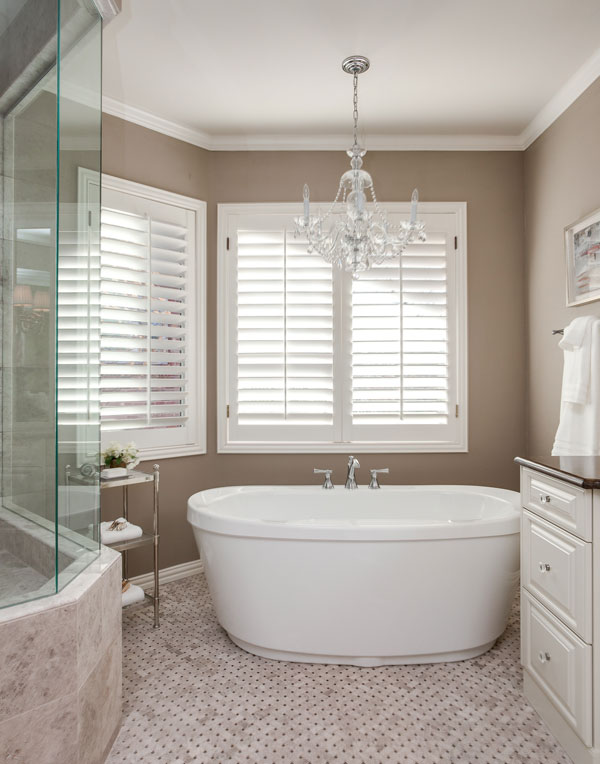 Greenwood village bathroom remodel project soaking tub for Bathroom ideas with soaker tubs