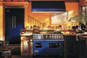 cobalt blue range kitchen remodel trend 2014 in Denver