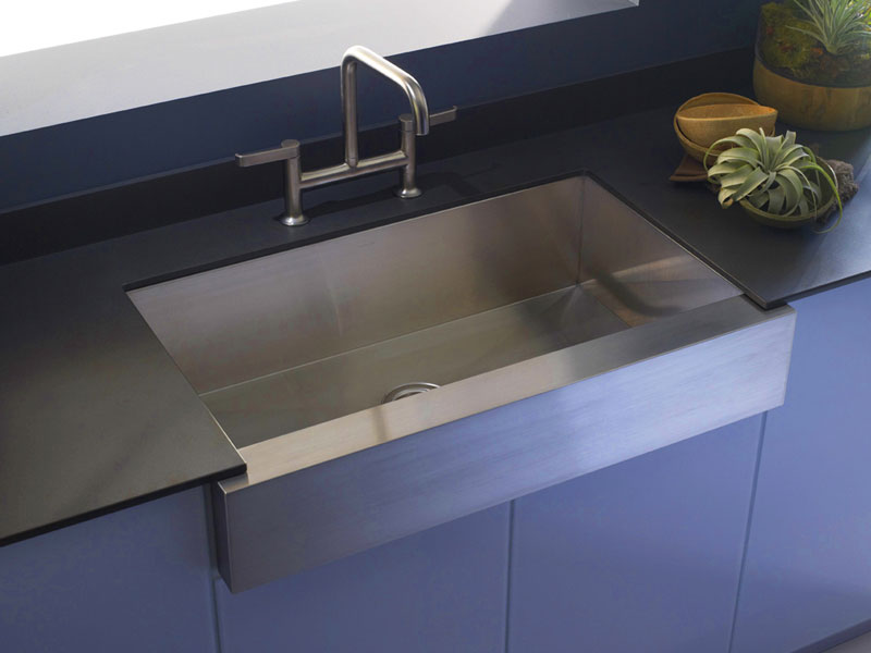 the appeal of apronfront sinks has evolved along with the kitchen thanks to
