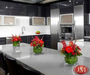 Black and White custom kitchen designed by JM Kitchen & Bath Denver Colorado