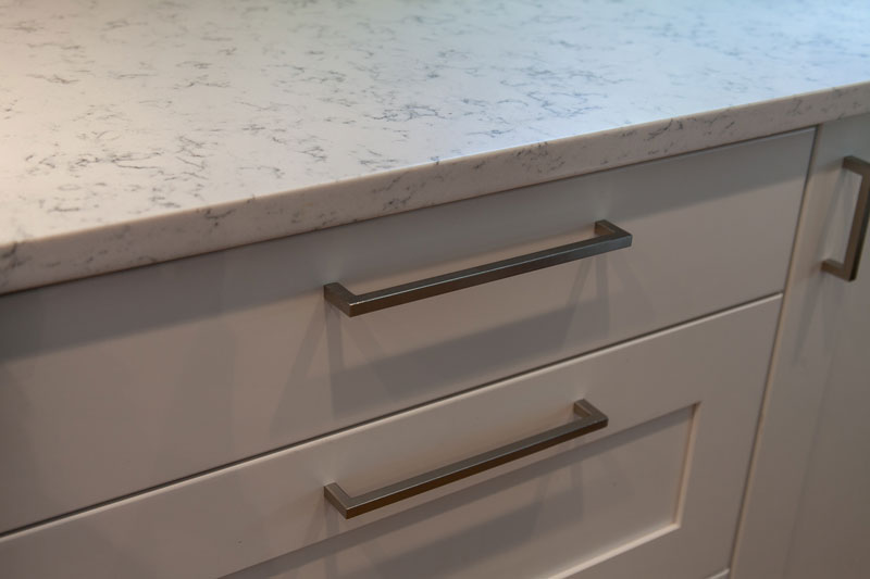White Cabinets and quartz countertops