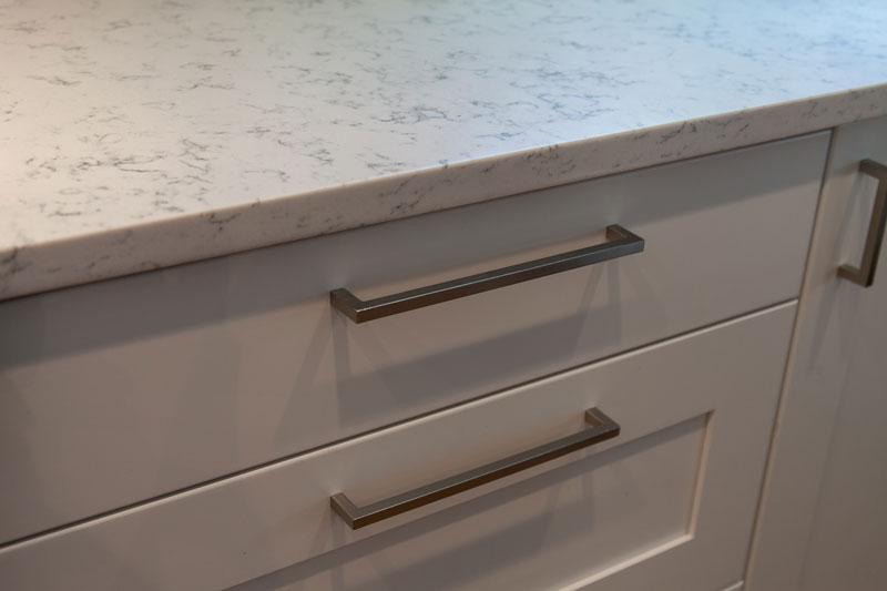 White Cabinets and quartz countertops