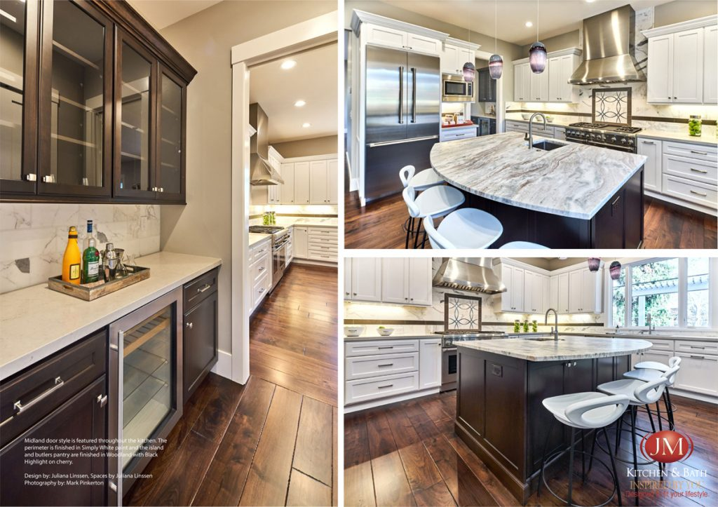 Midland door style is featured throughout the current cabinets kitchen