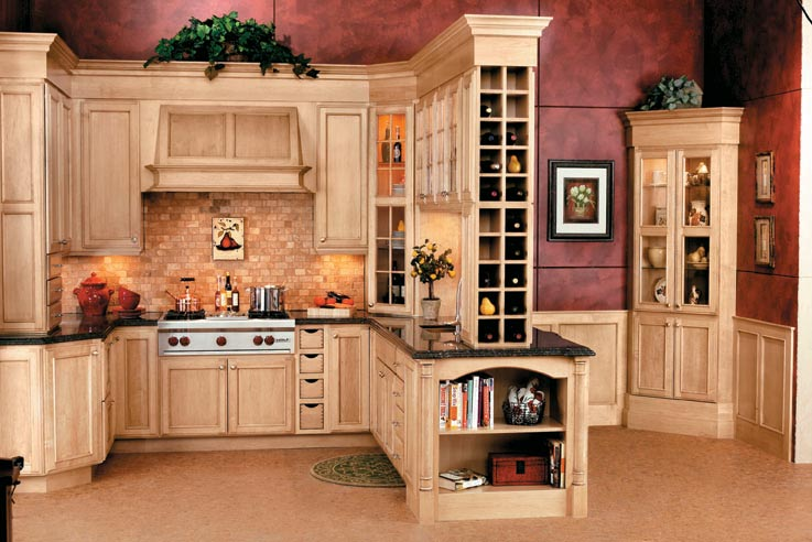 Wine Storage In A Cabinet That Is Accessible From The Kitchen Or