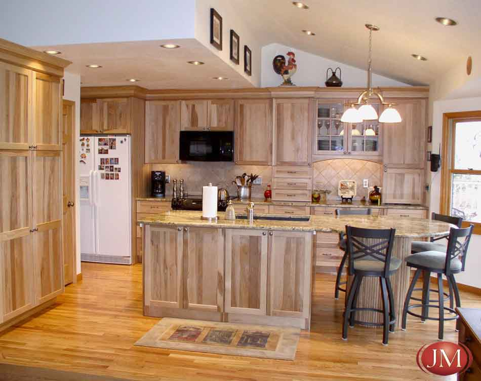 Hardwood Cabinets In The Kitchen