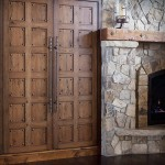 Custom Fireplace Mantel and Wood Doors