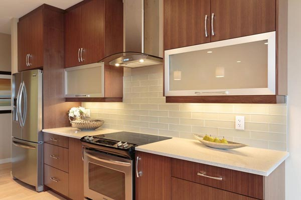 Cherry Wood Contemporaray kitchen