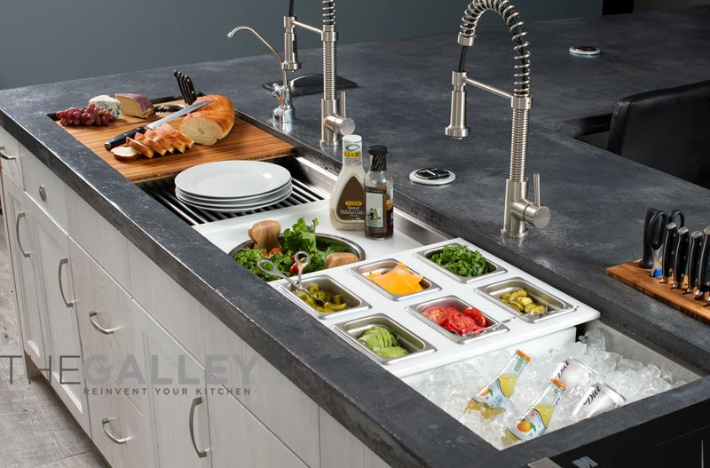 galley sink kitchen workstation - reinvent your sink at Denver's JM Kitchen and Bath
