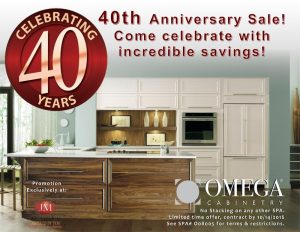 Anniversary Sale Up to 40% Off Omega Cabinets