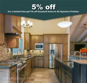 Crystal Cabinets offering 5 percent off Cabinet Finishes