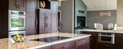 Pinery Kitchen Remodel Parker Colorado Distressed cabinets with amazing views