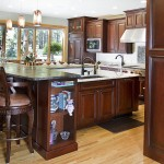 Traditional custom kitchen with large workspaces and custom cabinetry