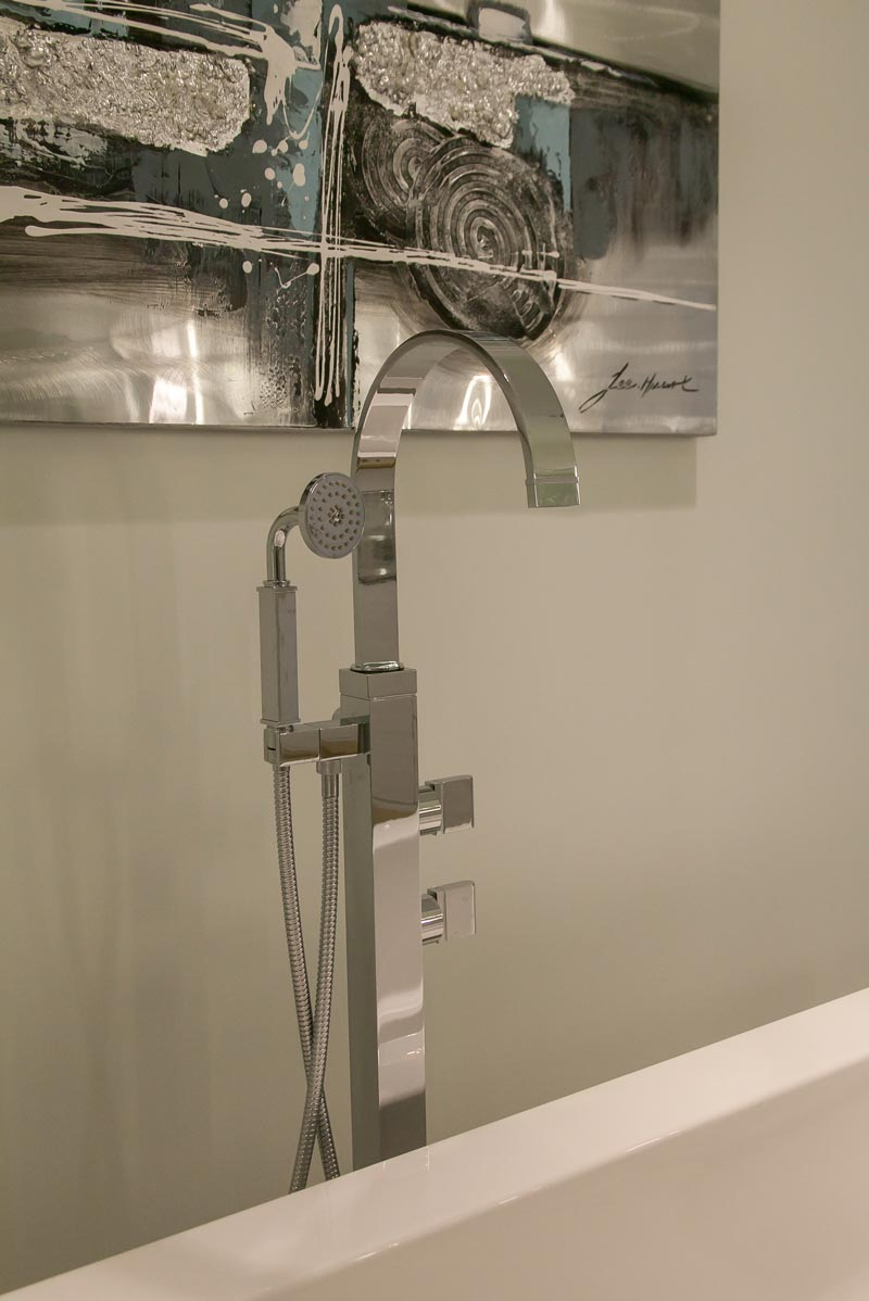 soaking tub fixture detail
