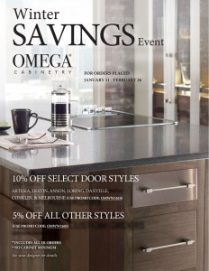Omega Cabinets Winter Savings Promotion