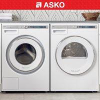 asko white laundry pair