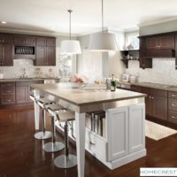 Cherry kitchen cabinets with center island