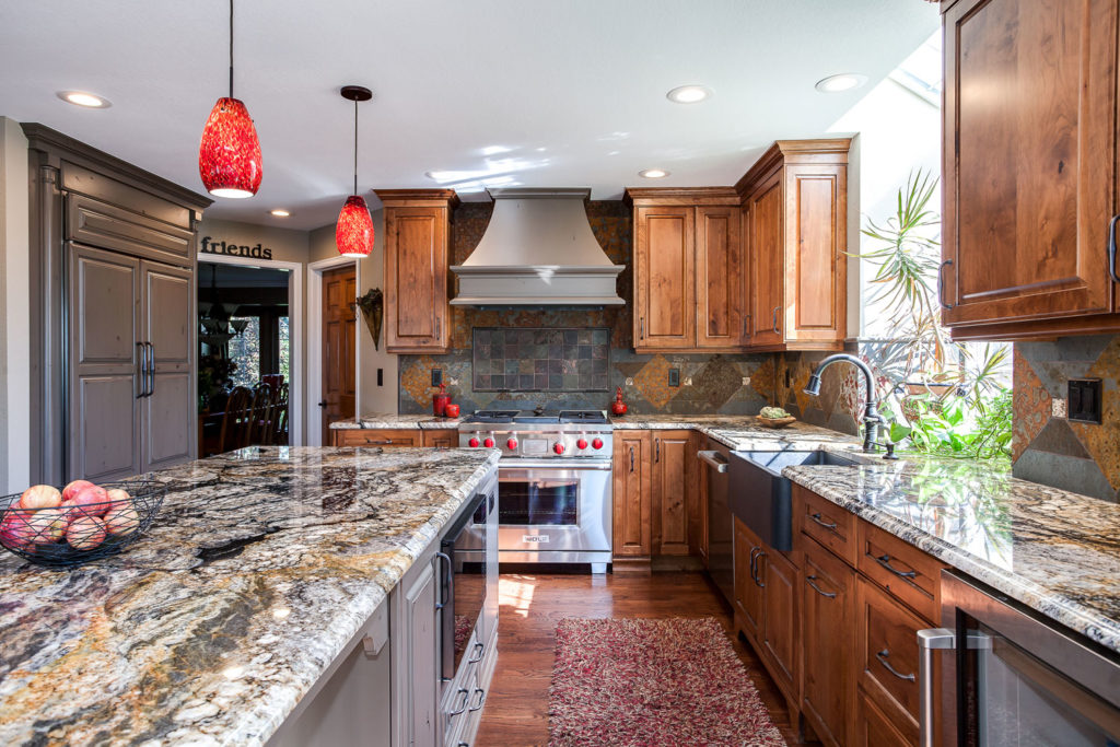 frameless current by crystal cabinets in this traditional kitchen remodel