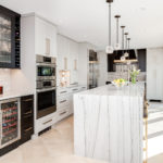 dramatic contemporary black & white kitchen renovation