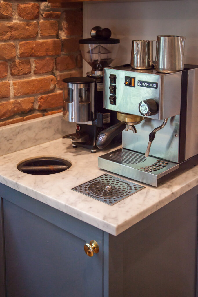coffee nook in this boulder historic home kitchen remodel