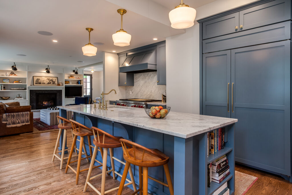 blue crystal cabinets shaker style