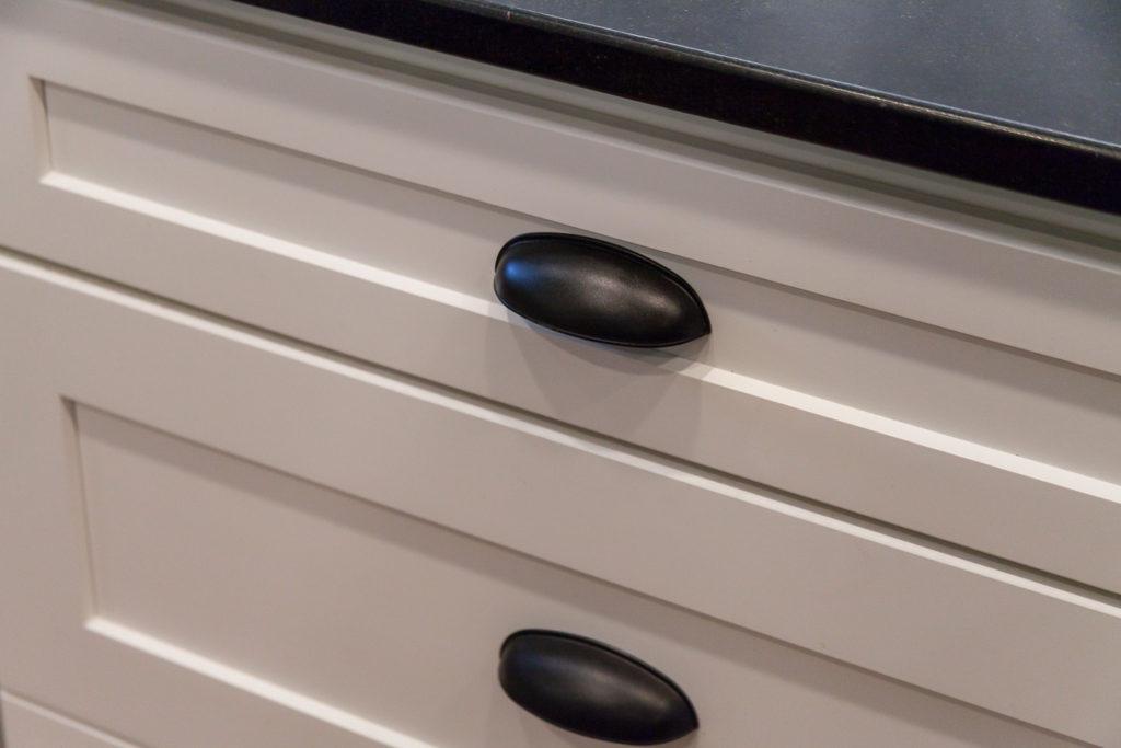 black kitchen cabinet hardware by Juli