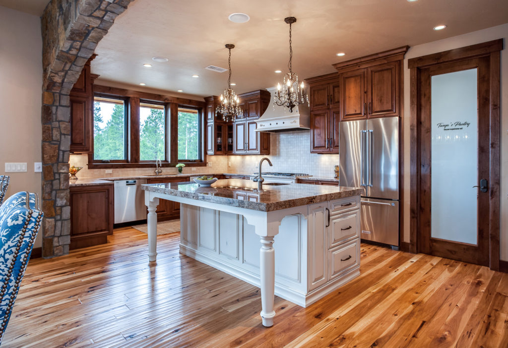 mountain home kitchen remodel in fraser valley