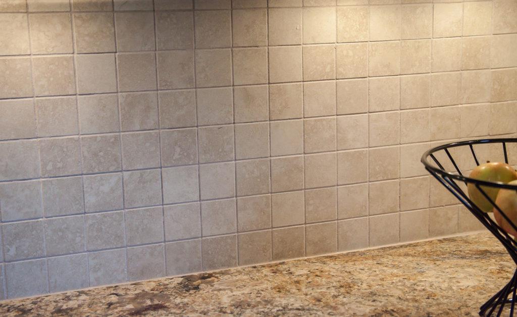 porcelain tile backsplash