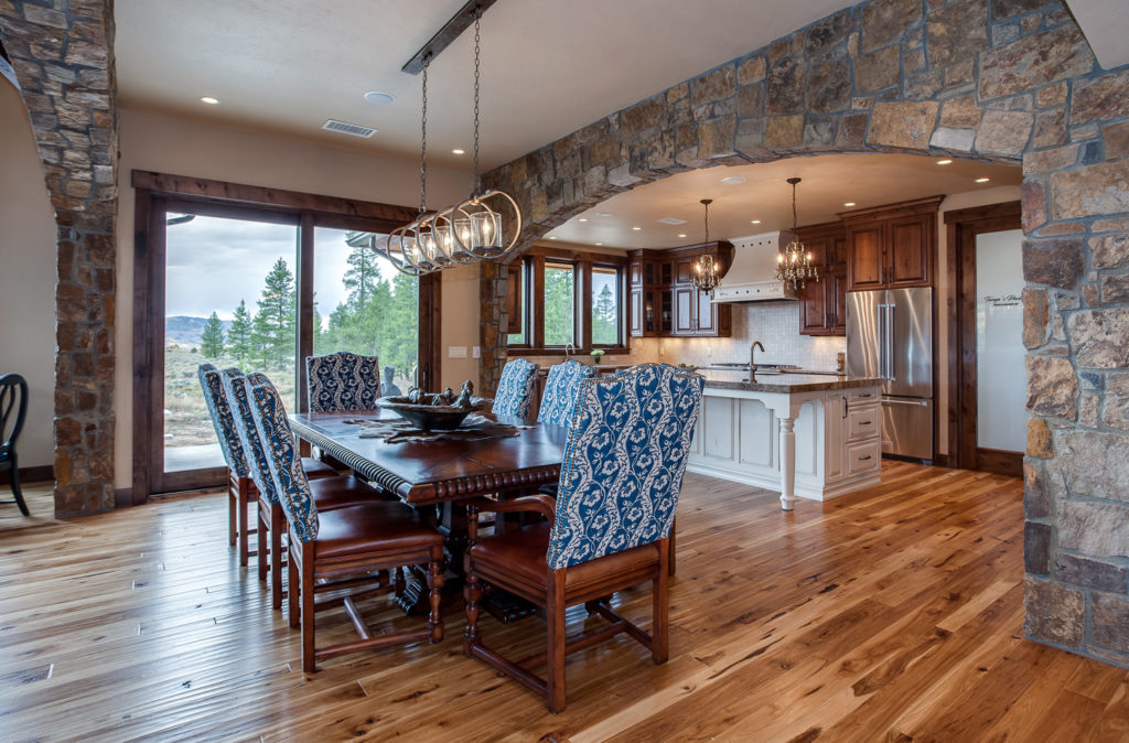 views from this mountain home kitchen remodel in fraser colorado