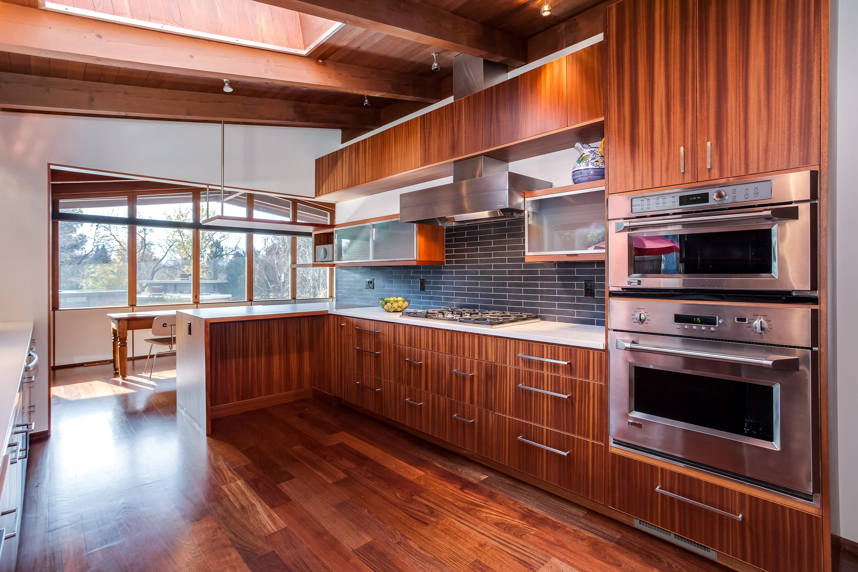 Stainless steel appliances and hood