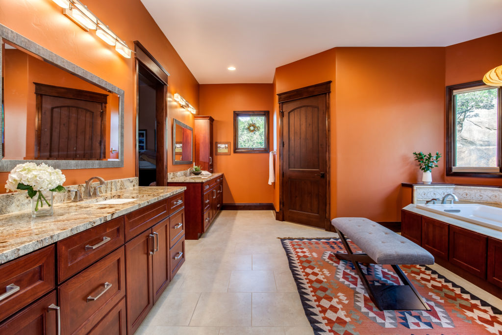 Southwestern master bath remodel castle rock colorado