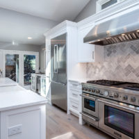 white on white stainless steel appliances kitchen remodel
