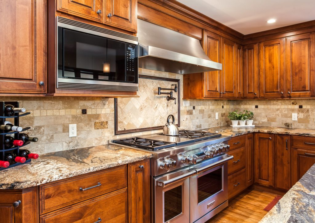 Stainless steel hood and oven