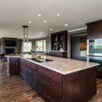 Dark wood custom cabinetry and shelving