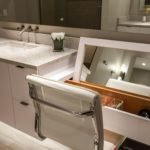 custom makeup vanity in this master bath remodel in denver