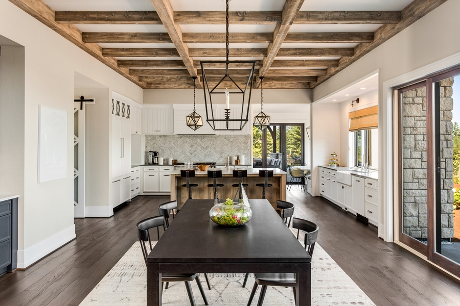 ceiling as a focal point in a kitchen remodel