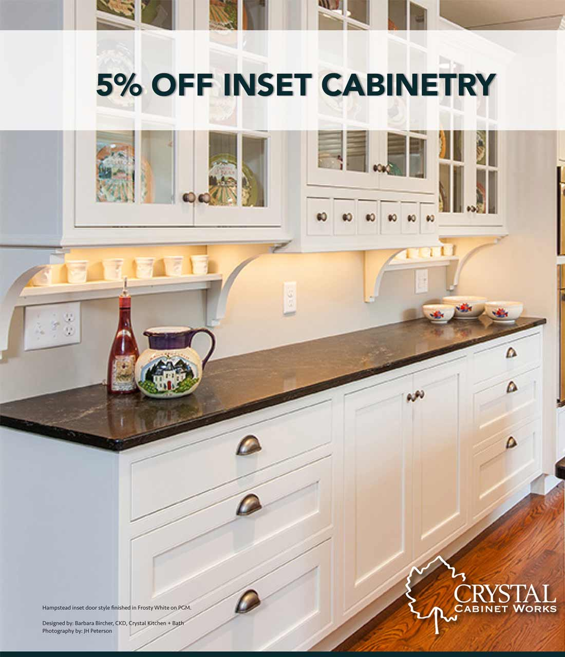 Crystal Cabinetry Promotion On Inset Cabinets Upgrades