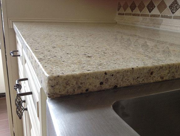 Eased Edge countertop edge kitchen or bath