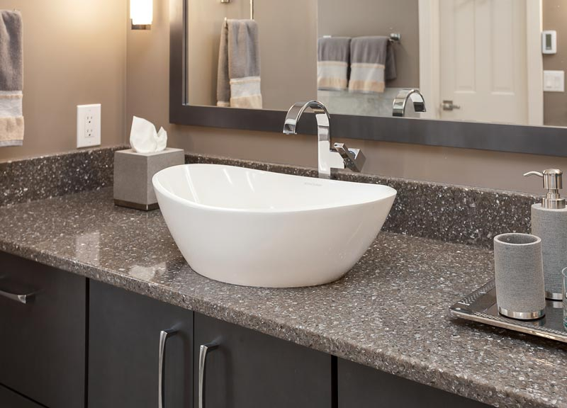 bowl sink in this master bathroom denver colorado