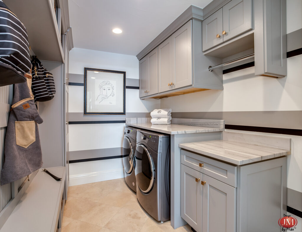 Gorgeous Laundry Room and Mud Room Designed by Mike Thulson located in Denver Colorado